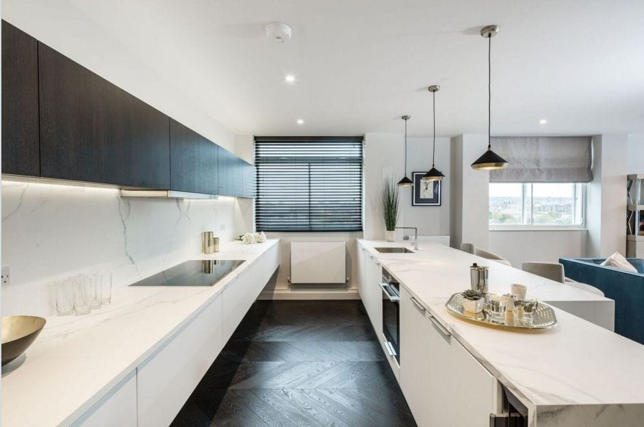 Renovated kitchen. Interior Design Portfolio from NW3 Interiors. Click to view all our beautiful homes across Primrose Hill, Belsize Park and other areas in North London.