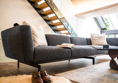 Camden Mews Project - New Sofa. NW3 Interiors is an interior design studio in North London. We work on projects of all sizes & budgets in Hampstead, Primrose Hill, Camden & Belsize Park.