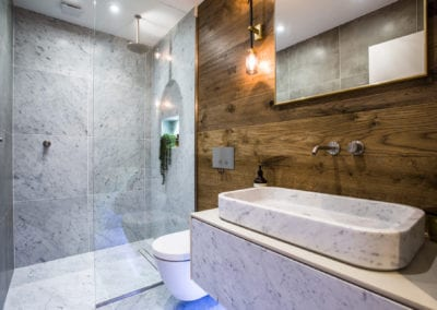 Camden Mews Project - Bathroom. NW3 Interiors is an interior design studio in North London. We work on projects of all sizes & budgets in Hampstead, Primrose Hill, Camden & Belsize Park.
