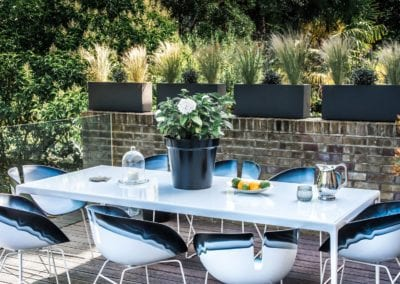 Outdoor furniture and styling in Primrose Hill