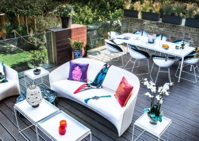 Interior Design Portfolio from NW3 Interiors - Outdoor furniture and styling in Primrose Hill