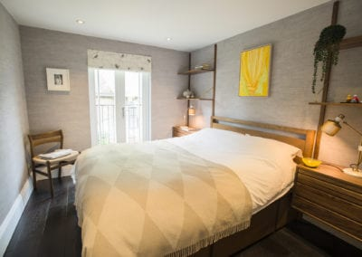 Primrose Hill Guest Bedroom. NW3 interiors used trusted furniture brands to uplift this stunning Primrose Hill village home. Click to see on our interior design portfolio.