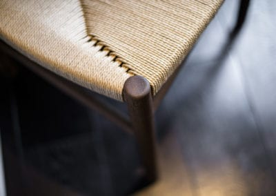 Chair details. NW3 interiors used trusted furniture brands to uplift this stunning Primrose Hill village home. Click to see on our interior design portfolio.