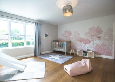 Mural on the wall in kids room. NW3 Interiors transformed our Beaconsfield Home. Click to view on the NW3 interior design portfolio.