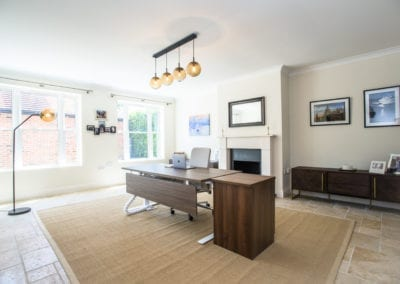Home office design. NW3 Interiors transformed our Beaconsfield Home. Click to view on the NW3 interior design portfolio.