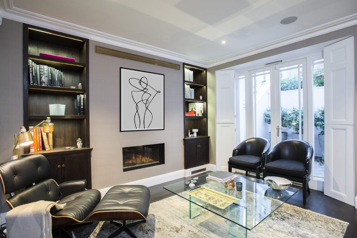 Synnove Lounge - After - Primrose Hill Project. NW3 interiors used trusted furniture brands to uplift this stunning Primrose Hill village home. Click to see on our interior design portfolio.