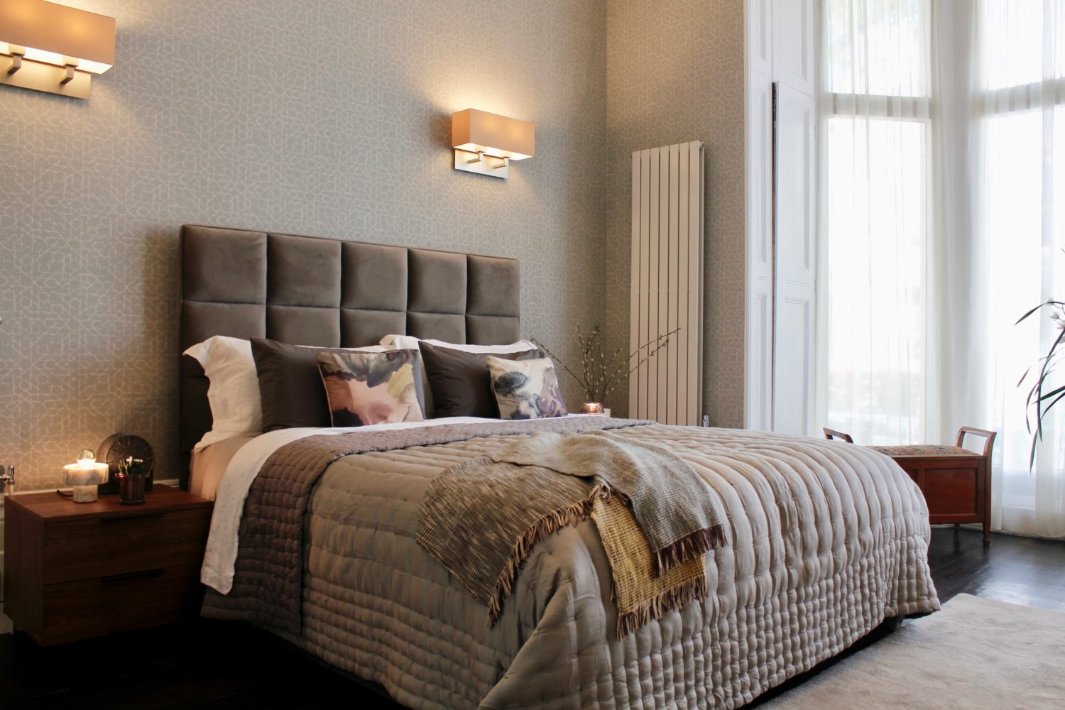 Interior Design Portfolio from NW3 Interiors - Belsize Park - Master Bedroom Design Hampstead