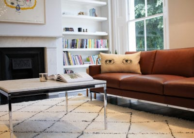 Kids Lounge Project Sofa. NW3 interiors put together a beautiful Knoll Lounge for this Primrose Hill home. Click to read about this interior project on our interior design portfolio.