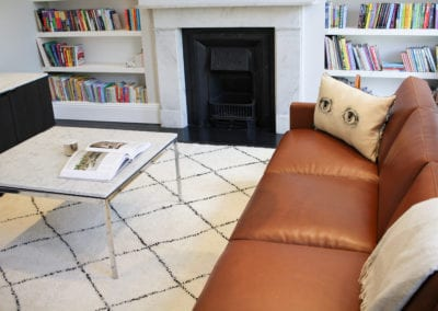 Primrose Hill Knoll Lounge - Sofa. NW3 interiors put together a beautiful Knoll Lounge for this Primrose Hill home. Click to read about this interior project on our interior design portfolio.