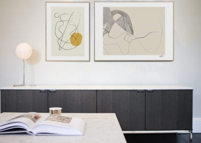 7 Berkeley Road Kids Lounge - Florence Knoll low credenza. NW3 interiors put together a beautiful Knoll Lounge for this Primrose Hill home. Click to read about this interior project on our interior design portfolio.