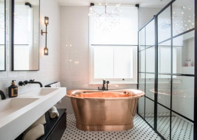 Edis Street - Primrose Hill House - Bathroom. Interior Designer in North London - Belsize Park, Hamstead, Primrose Hill and Camden. Click to view the interior design portfolio from NW3 Interiors.