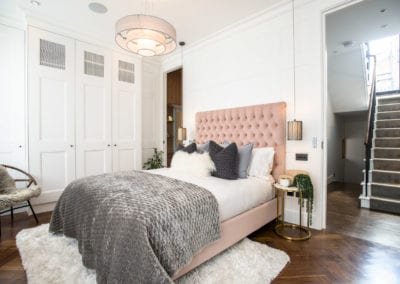 Edis Street - Primrose Hill House - Master Bedroom. Interior Designer in North London - Belsize Park, Hamstead, Primrose Hill and Camden