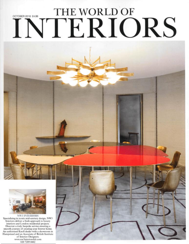 Interior design press World of Interiors coverage for NW3 interiors.