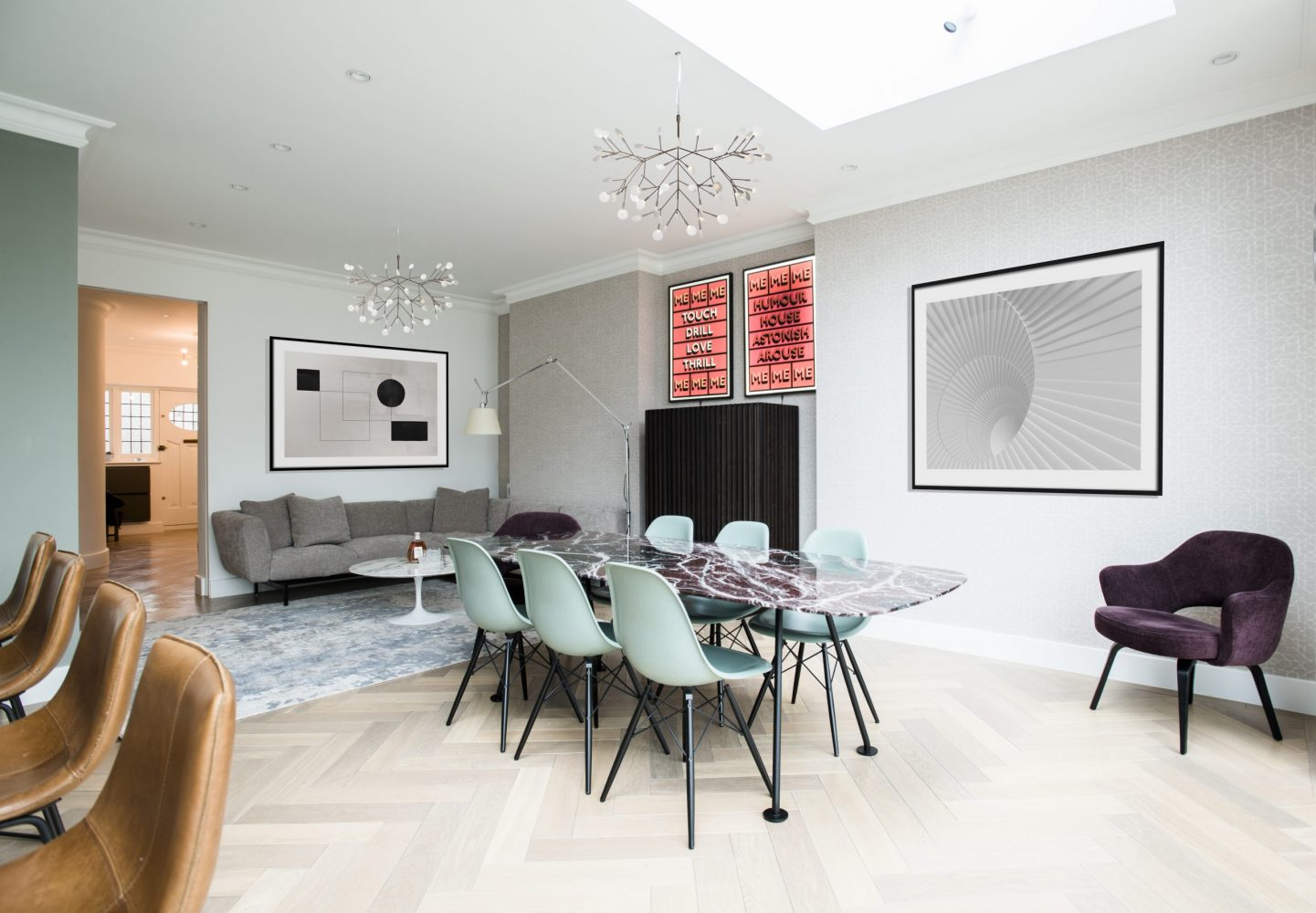 Living & Dining Area Design - Highgate Family Home Project