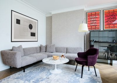 Living Area - Highgate Family Home Project. NW3 Interiors is an interior design studio in North London. We work on projects of all sizes & budgets in Hampstead, Primrose Hill, Camden & Belsize Park. Click to view our interior design portfolio.
