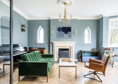 Fireplace - Highgate Family Home interior design project. NW3 Interiors is an interior design studio in North London. We work on projects of all sizes & budgets in Hampstead, Primrose Hill, Camden & Belsize Park. Click to view our interior design portfolio.
