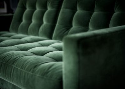 Florence Knoll Sofa in Green Velvet - Highgate Family Home Project