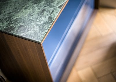 Green Marble on Knoll Credenza - Highgate Family Home Project