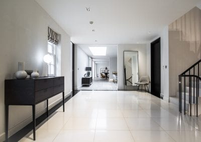 Entrance and Hallway - St Johns Wood Family Home. NW3 Interiors is an interior design studio in North London. We work on projects of all sizes & budgets in Hampstead, Primrose Hill, Camden & Belsize Park. Click to view our interior design portfolio.