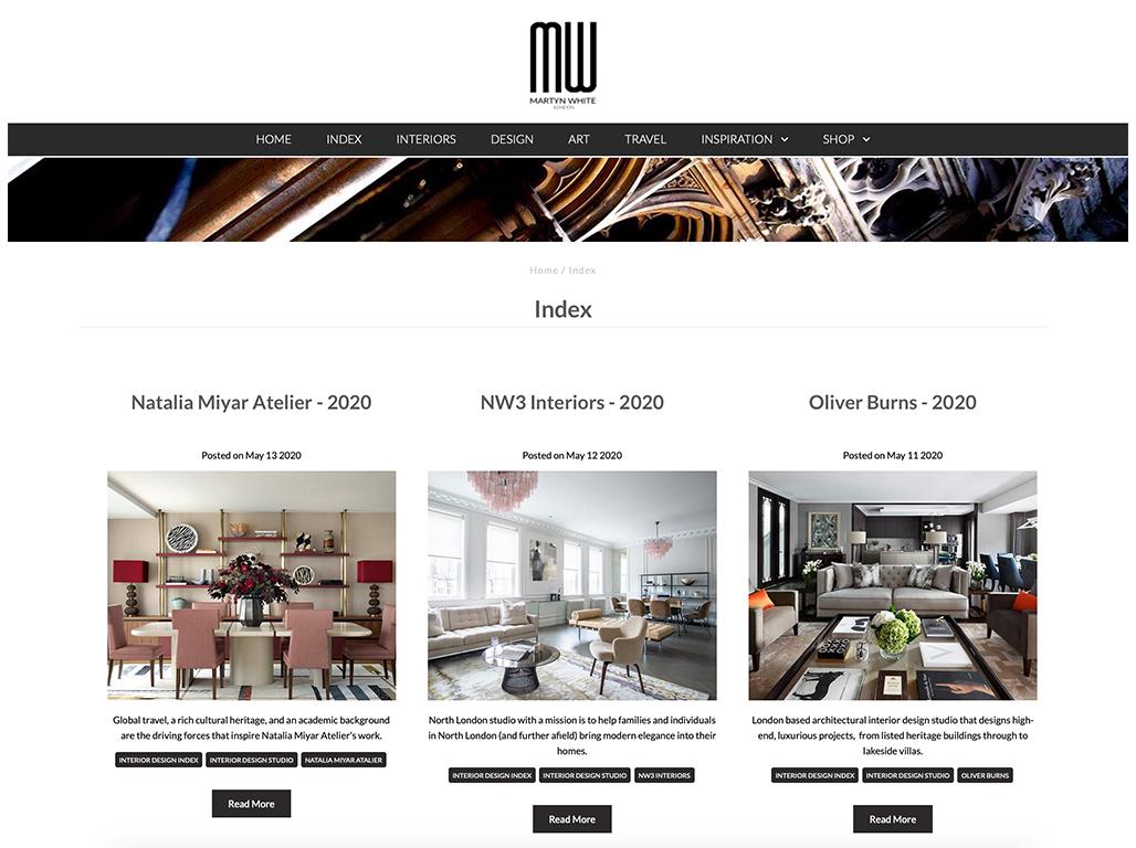 Interior design press MW coverage for NW3 interiors.