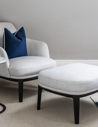 Poliform armchair in guest room