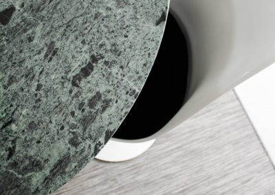 Detailed shot of knoll saarinen table and chairs