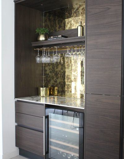 Cocktail Counter in a Kitchen
