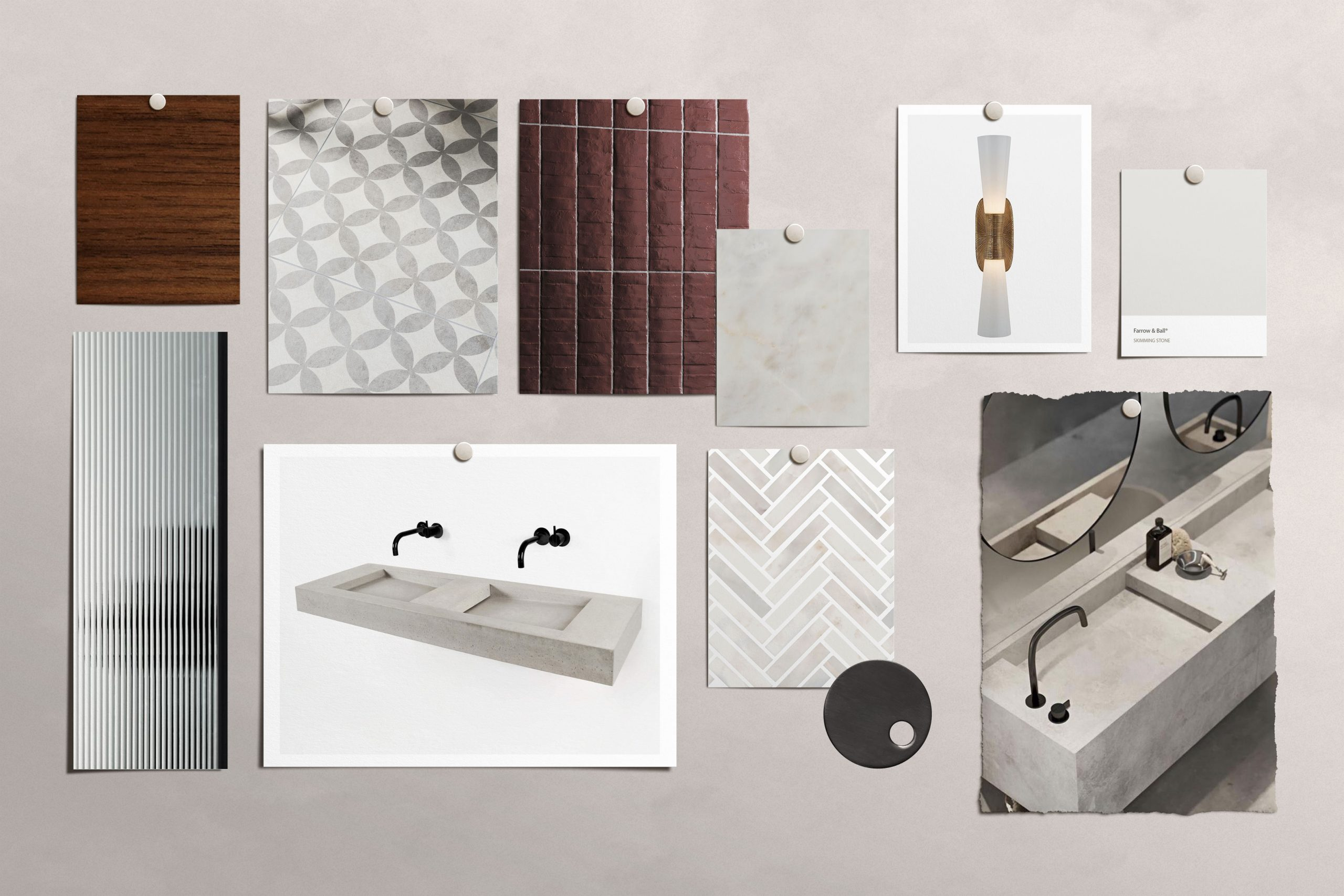 NW3 Interiors Mood Board for an Ensuite