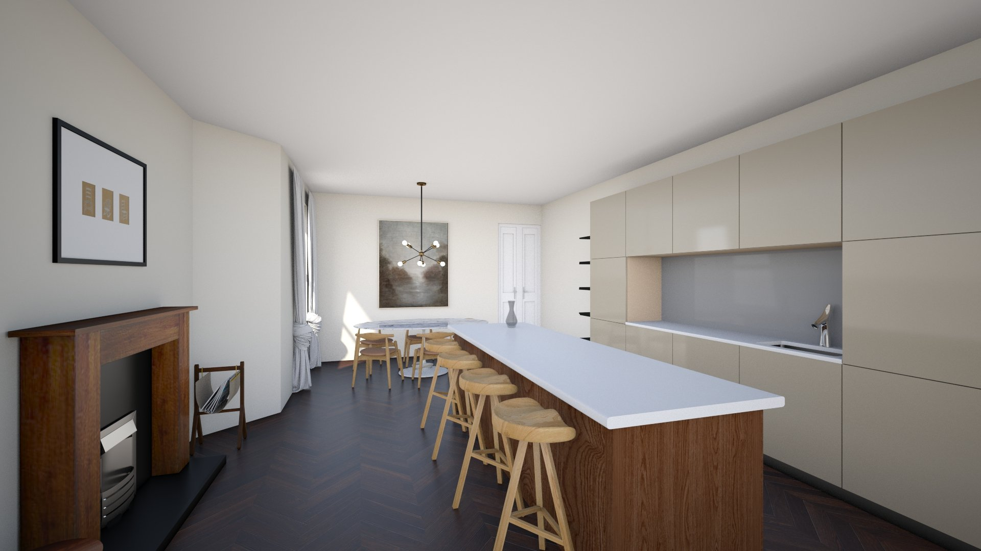 Kitchen Project Render by Studio E1